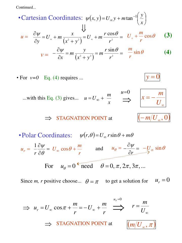 Cartesian Coordinates: