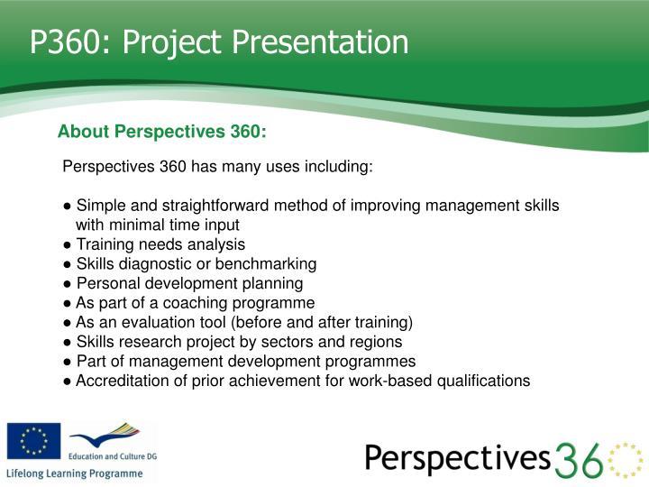 P360: Project Presentation