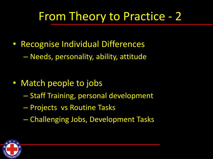 From Theory to Practice - 2