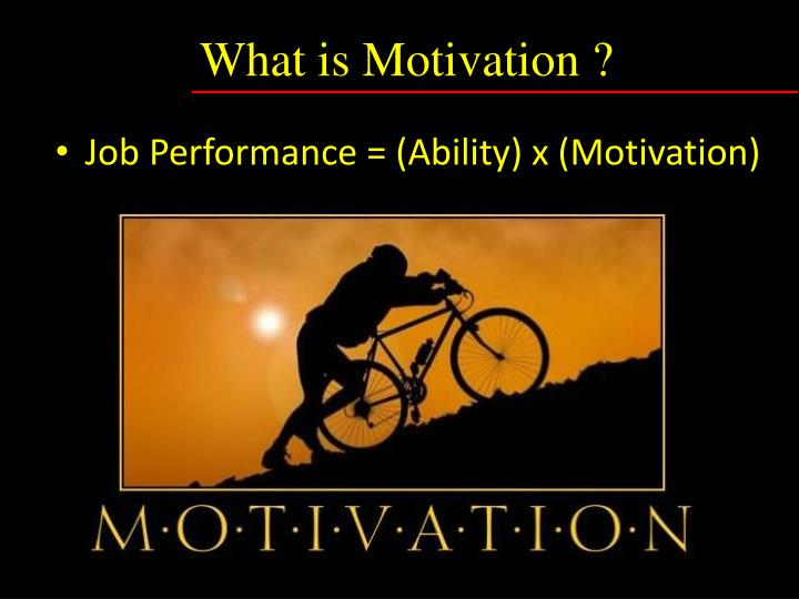 What is Motivation ?