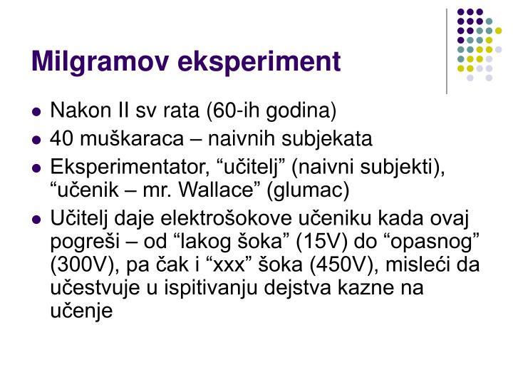 Milgramov eksperiment