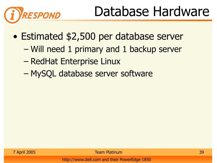 Database Hardware
