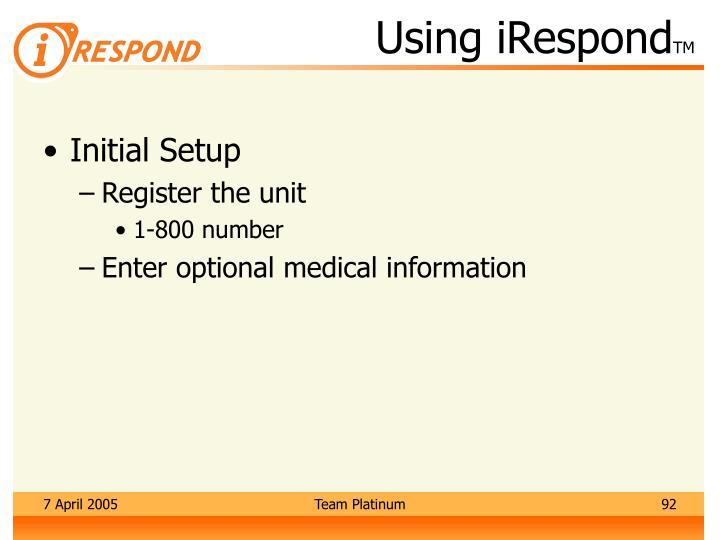 Using iRespond