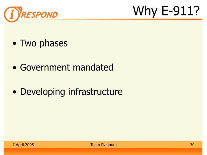 Why E-911?