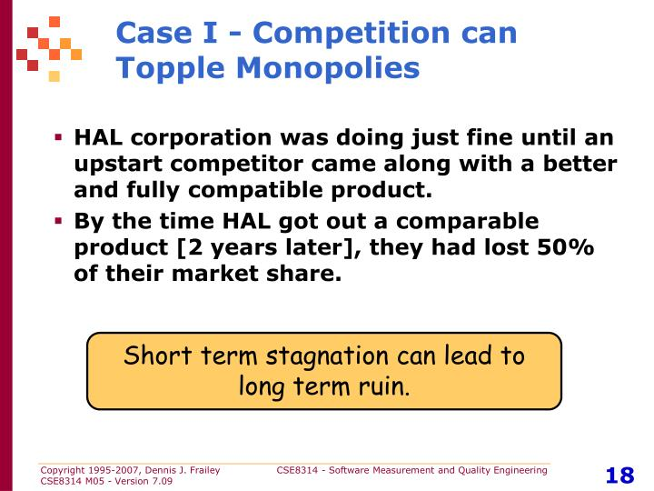 Case I - Competition can Topple Monopolies