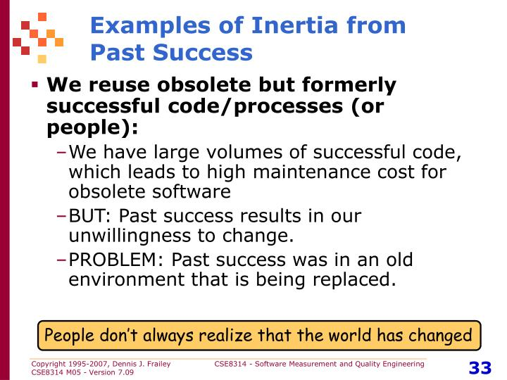 Examples of Inertia from
