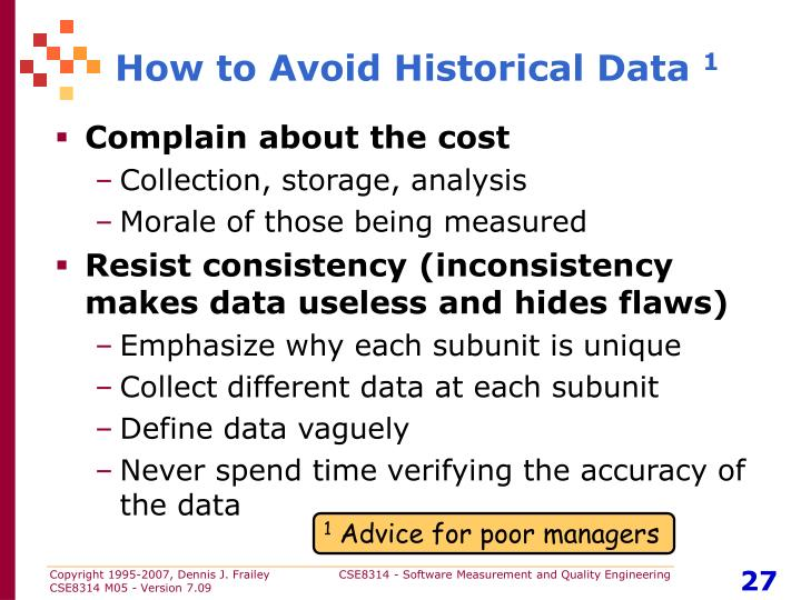 How to Avoid Historical Data