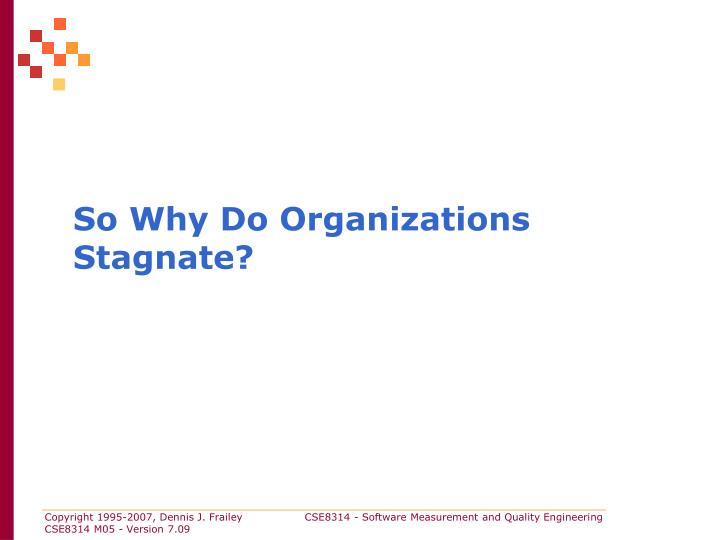 So Why Do Organizations Stagnate?