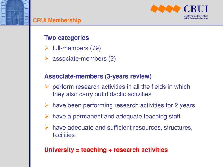 CRUI Membership