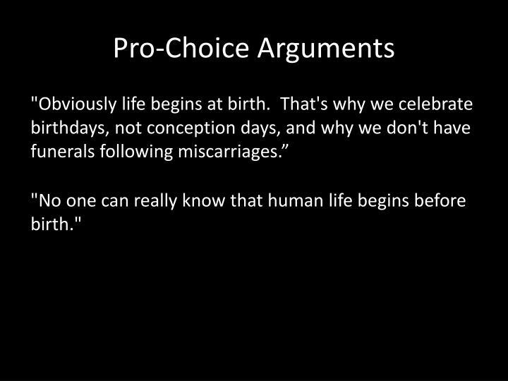 Pro-Choice Arguments