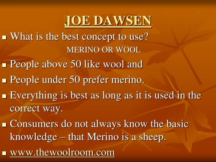 JOE DAWSEN