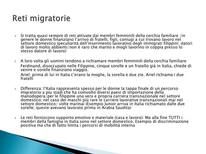 Reti migratorie