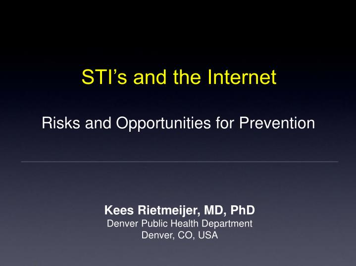 STI's and the Internet