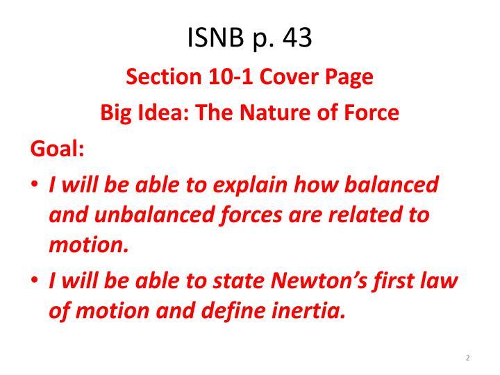 ISNB p. 43