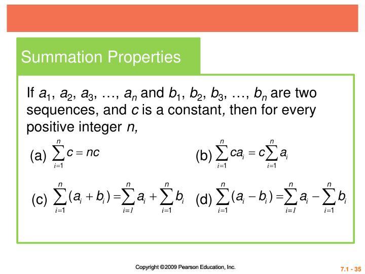 Summation Properties
