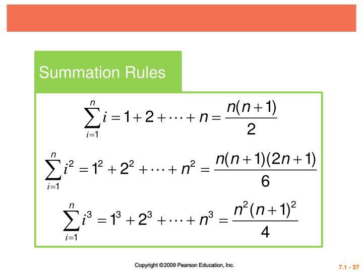 Summation Rules