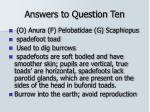 answers to question ten