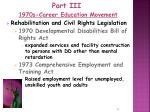 part iii 1970s career education movement11