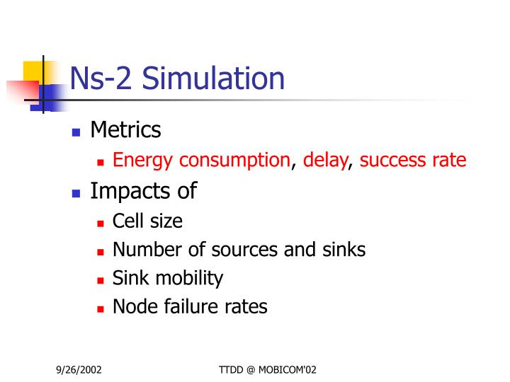 Ns-2 Simulation