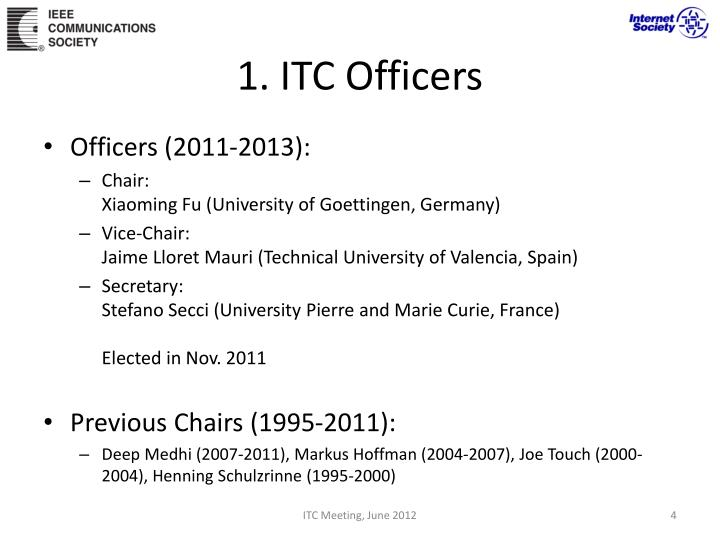 1. ITC Officers