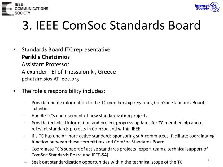 3. IEEE ComSoc Standards Board