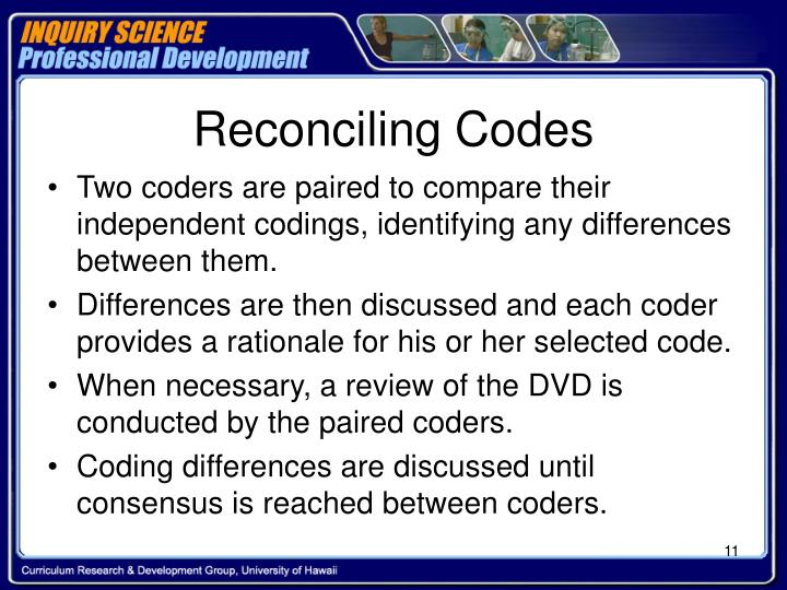 Reconciling Codes