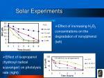 solar experiments