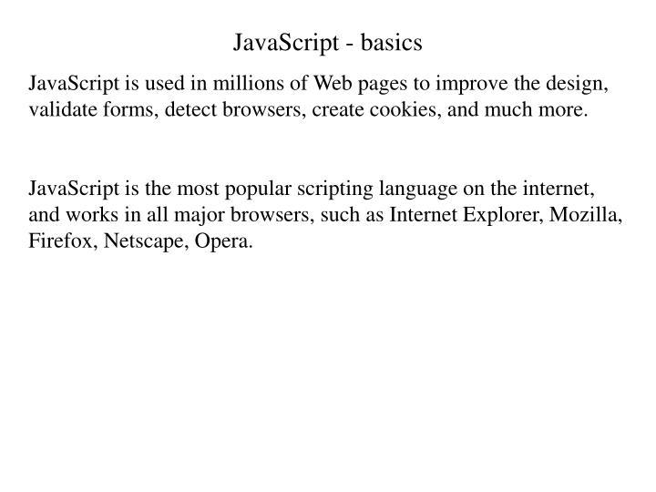 JavaScript - basics
