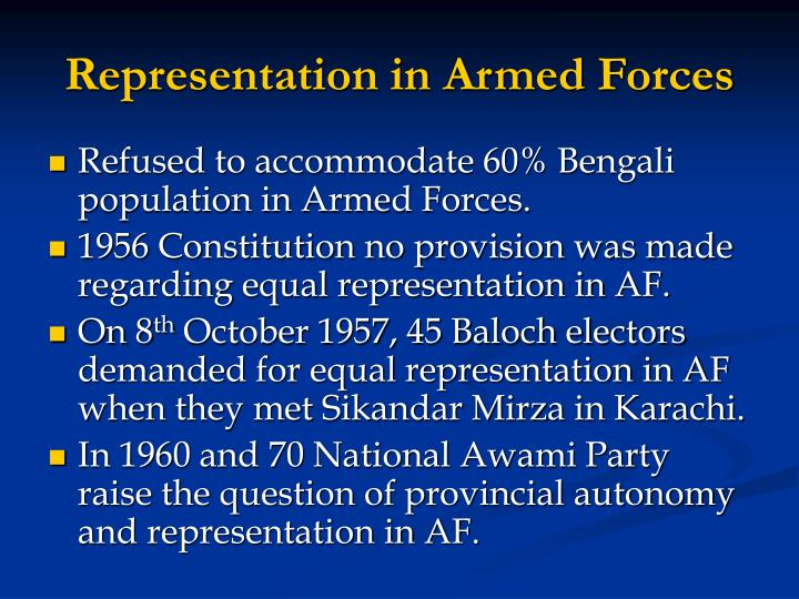 Representation in Armed Forces