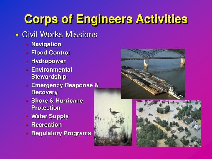Corps of Engineers Activities
