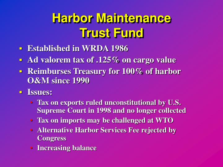 Harbor Maintenance