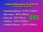 inland waterways trust fund current status end fy 00