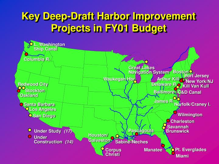 Key Deep-Draft Harbor Improvement Projects in FY01 Budget