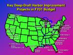key deep draft harbor improvement projects in fy01 budget