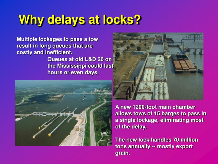 Why delays at locks?