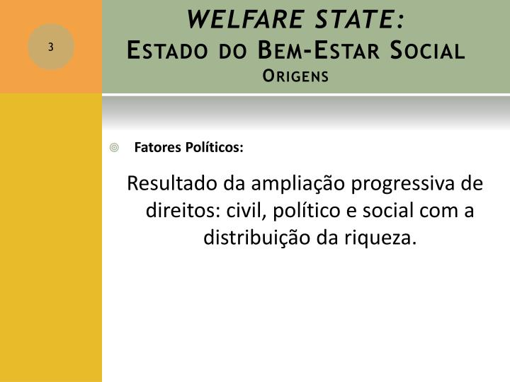 Welfare state estado do bem estar social origens