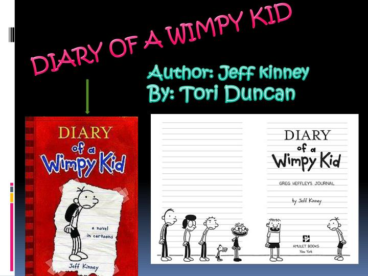 Author jeff kinney by tori duncan