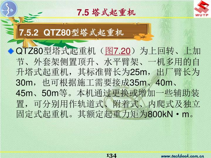 7.5.2  QTZ80