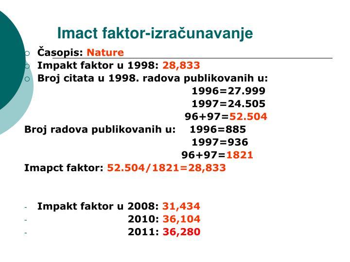 Imact faktor-izračunavanje
