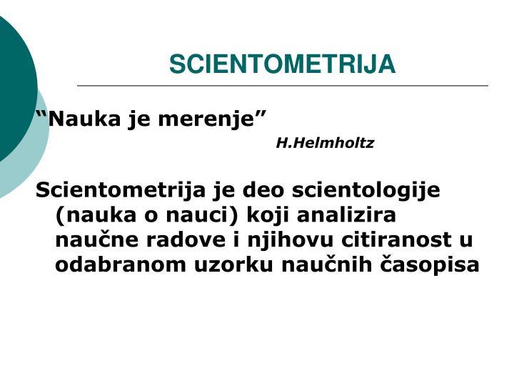 SCIENTOMETRIJA