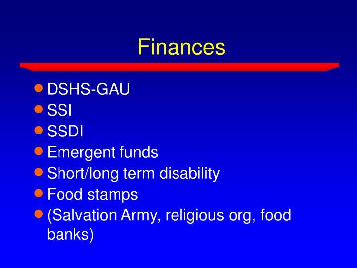 Finances