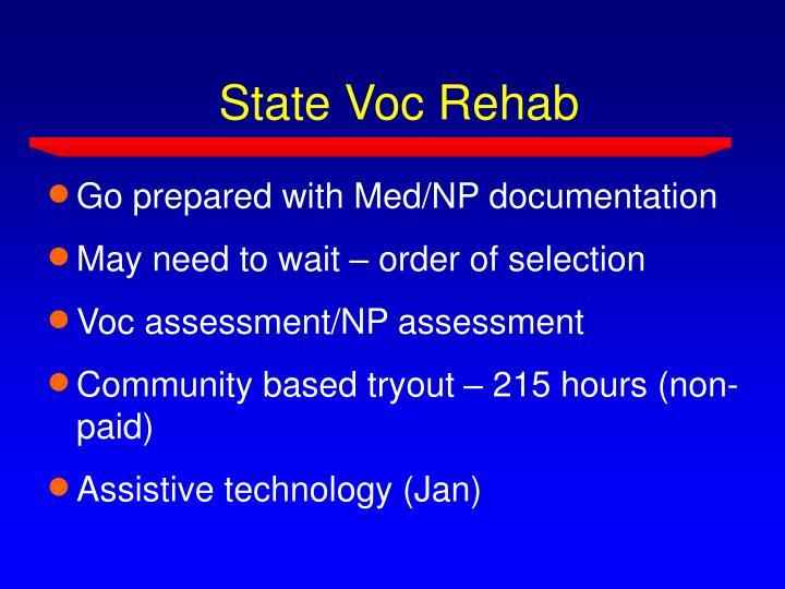 State Voc Rehab