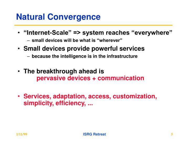 Natural Convergence