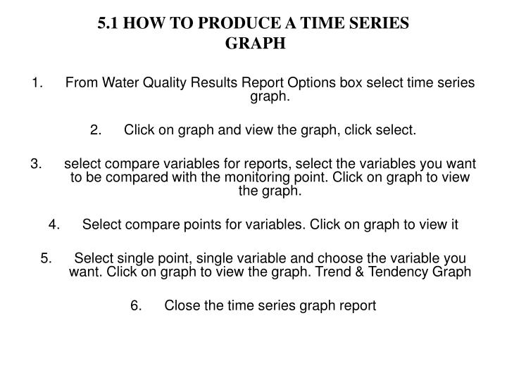 5.1 HOW TO PRODUCE A TIME SERIES