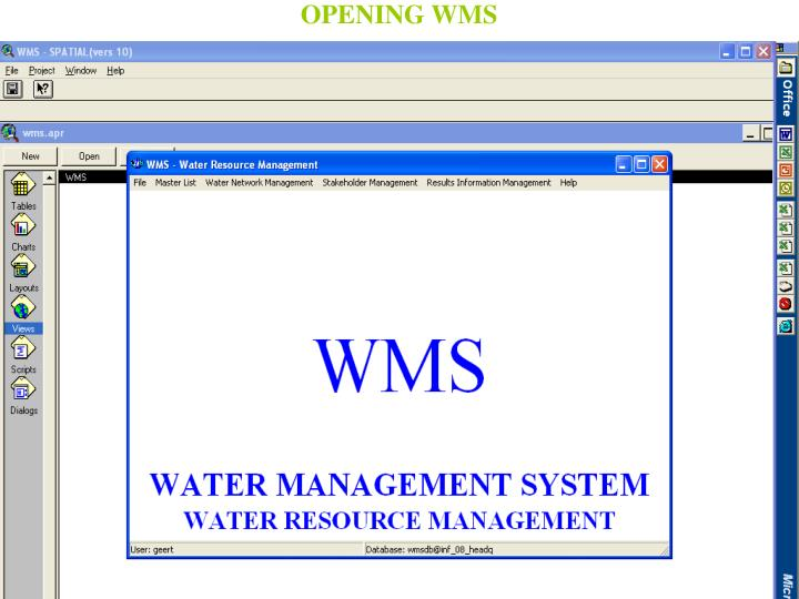 OPENING WMS