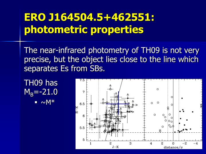 ERO J164504.5+462551: photometric properties