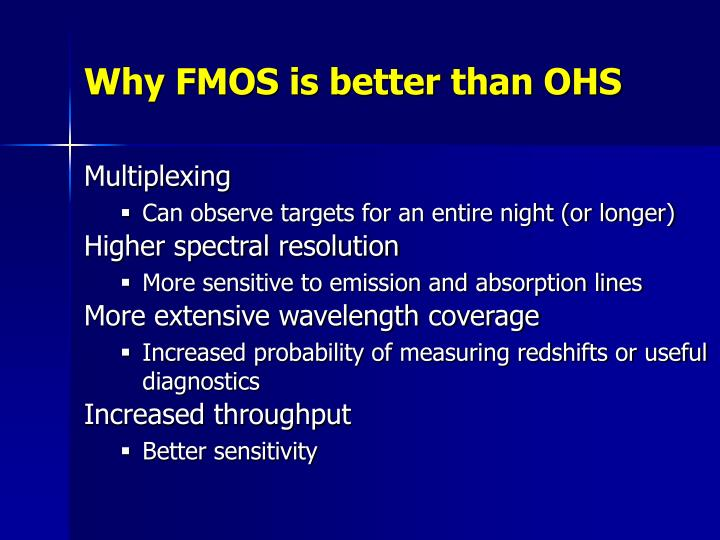 Why FMOS is better than OHS