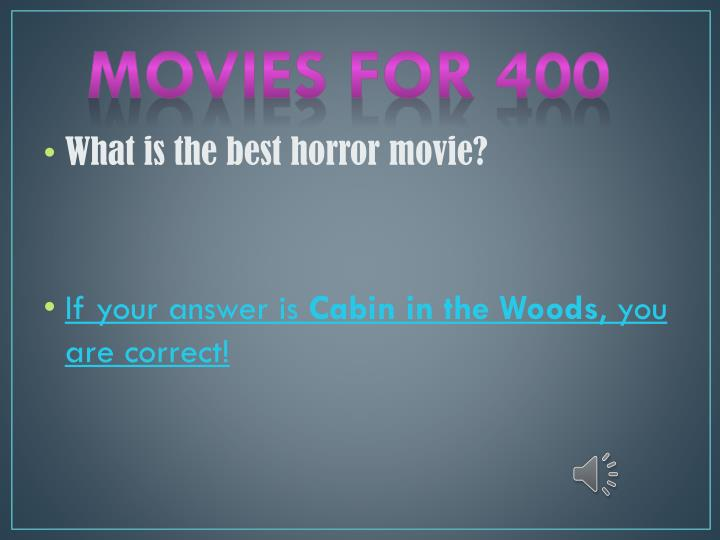 Movies for 400