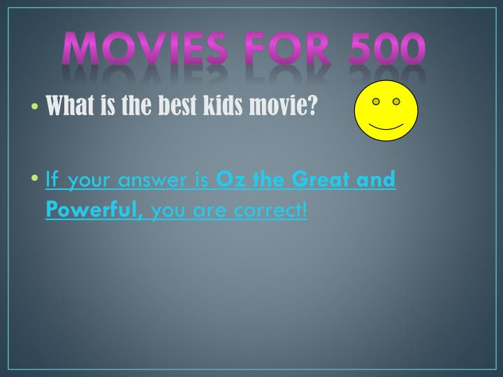 Movies for 500