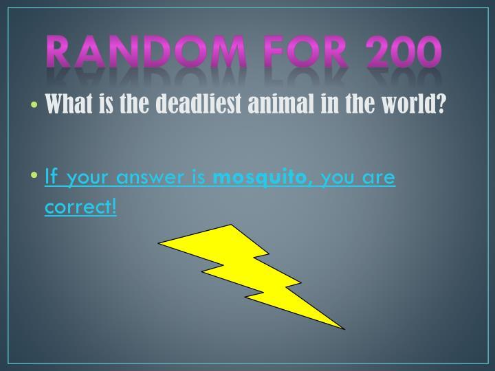 Random for 200
